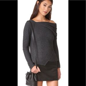 Free People Love❤️ and Harmony Sweater Charcoal xs